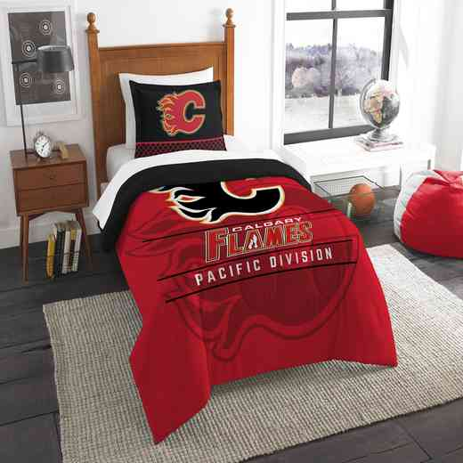 1NHL862010003RET: NW NHL TWIN COMFORTER SET, FLAMES