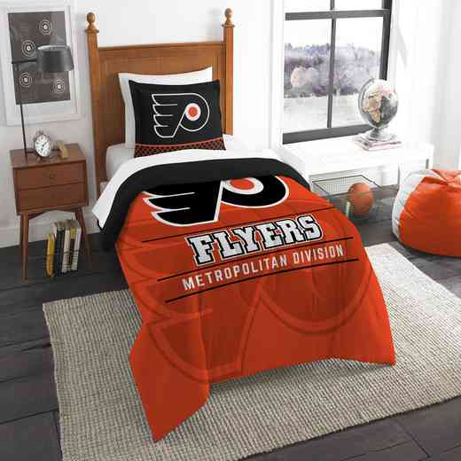1NHL862010017RET: NW NHL TWIN COMFORTER SET, FLYERS