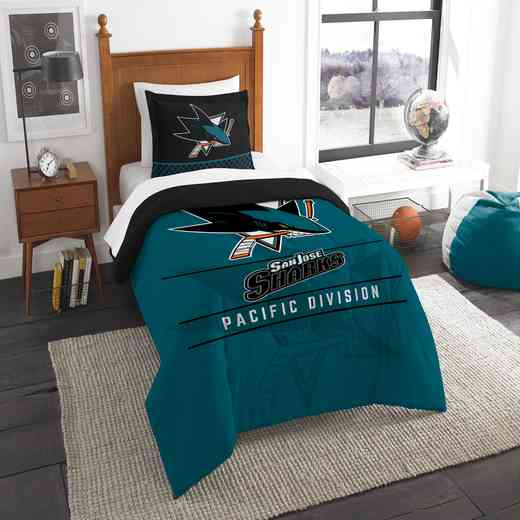 1NHL862010020RET: NW NHL TWIN COMFORTER SET, SHARKS