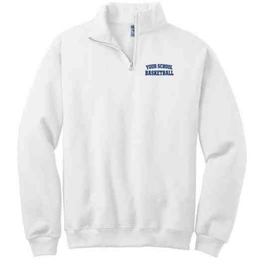 Basketball Embroidered Youth Quarter Zip Sweatshirt