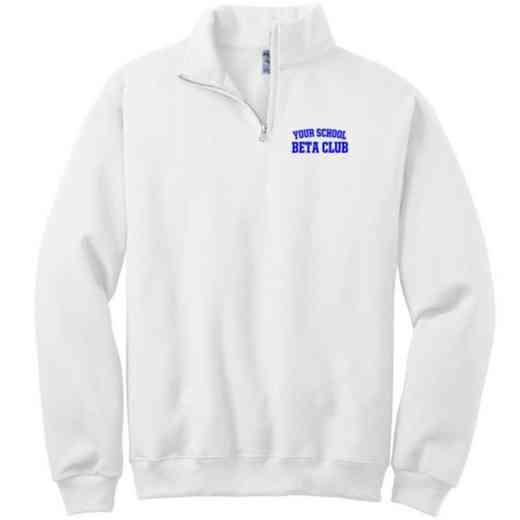 Beta Club Embroidered Youth Quarter Zip Sweatshirt