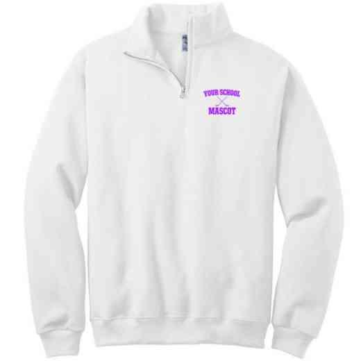 Hockey Embroidered Youth Quarter Zip Sweatshirt