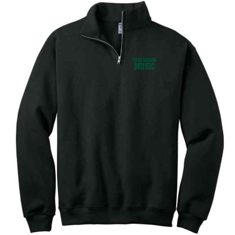 Music Embroidered Youth Quarter Zip Sweatshirt