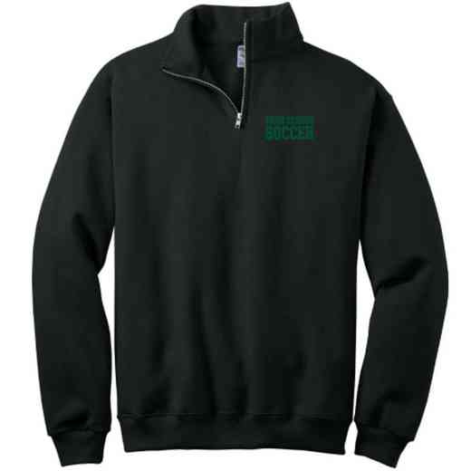 Soccer Embroidered Youth Quarter Zip Sweatshirt