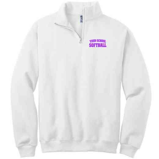 Softball Embroidered Youth Quarter Zip Sweatshirt