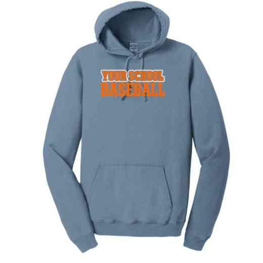Baseball Pigment Dyed Hooded Sweatshirt