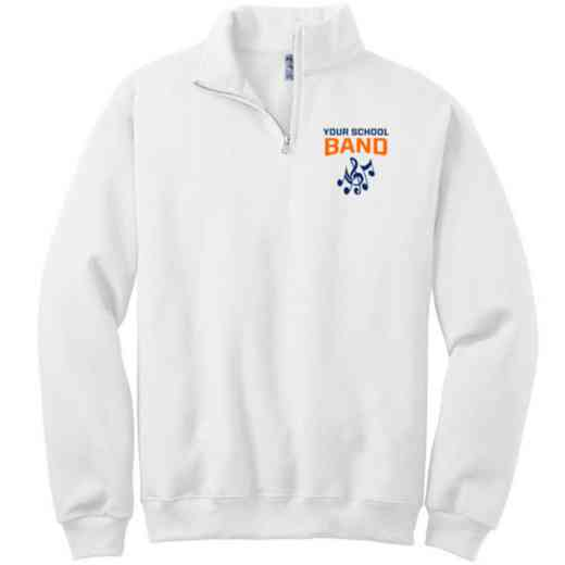Band Embroidered Adult Quarter Zip Sweatshirt