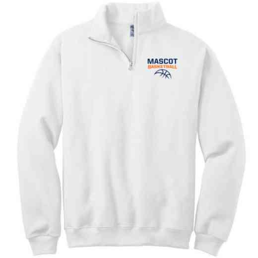 Basketball Embroidered Adult Quarter Zip Sweatshirt