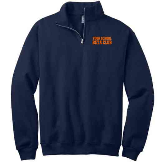 Beta Club Embroidered Adult Quarter Zip Sweatshirt