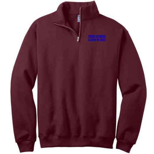 """Class of """""""" Embroidered Adult Quarter Zip Sweatshirt"""