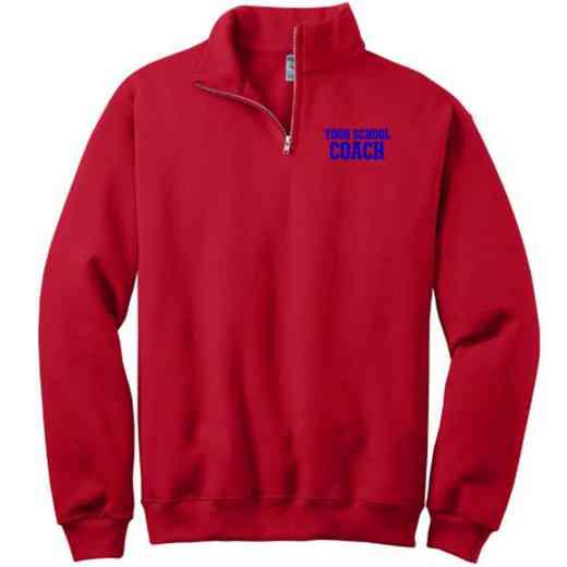Coach Embroidered Adult Quarter Zip Sweatshirt
