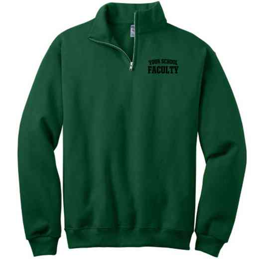 Faculty Embroidered Adult Quarter Zip Sweatshirt