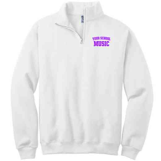 Music Embroidered Adult Quarter Zip Sweatshirt