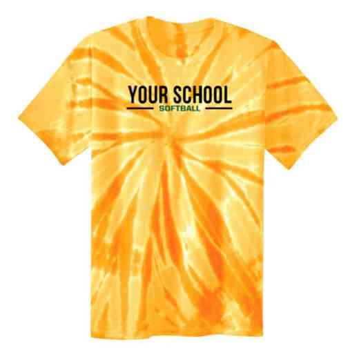 Softball Tie Dye T-Shirt