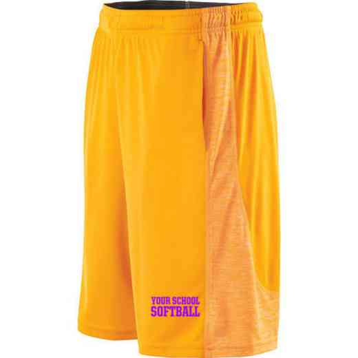 Softball Embroidered Holloway Youth Electron Short