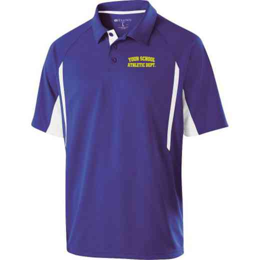 Athletic Department Embroidered Mechanical Stretch Polo