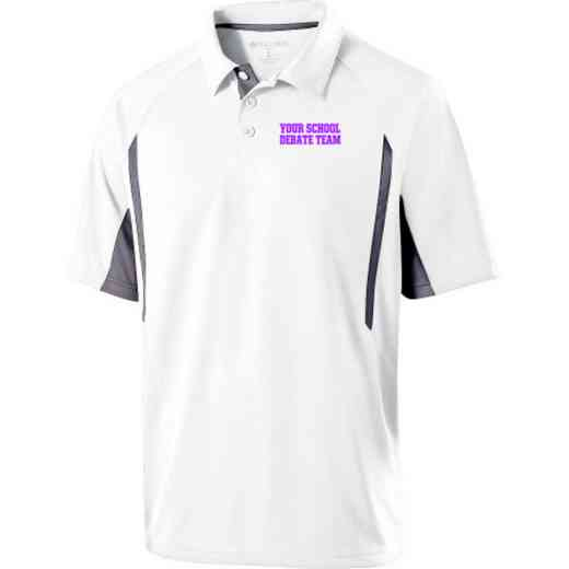 Debate Team Embroidered Mechanical Stretch Polo