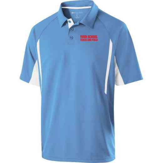 Track and Field Embroidered Mechanical Stretch Polo