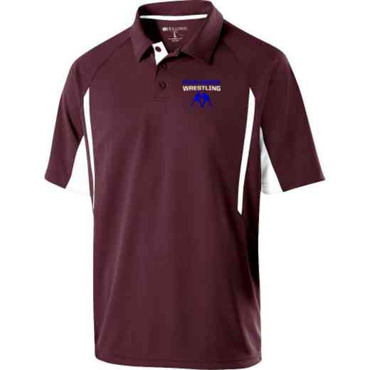 Wrestling Embroidered Mechanical Stretch Polo