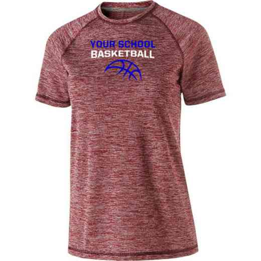 Basketball Womens Holloway Heather Electrify Perform Shirt