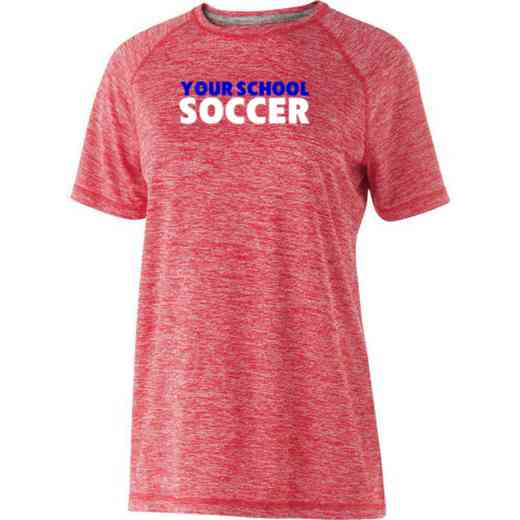 Soccer Womens Holloway Heather Electrify Perform Shirt
