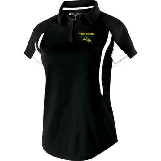 Basketball Embroidered Holloway Ladies Avenger Polo