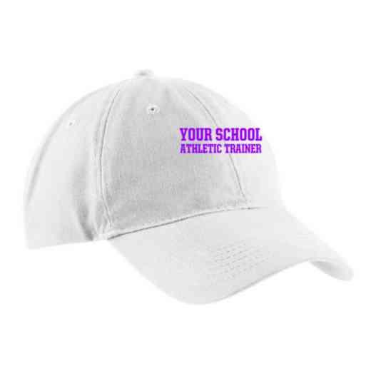 Athletic Trainer Embroidered Brushed Twill Cap