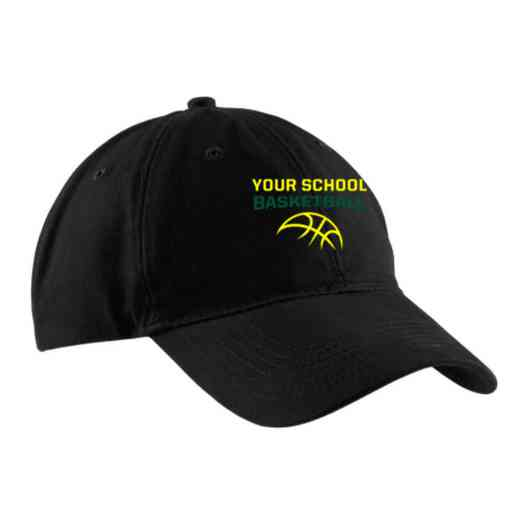 Basketball Embroidered Brushed Twill Cap