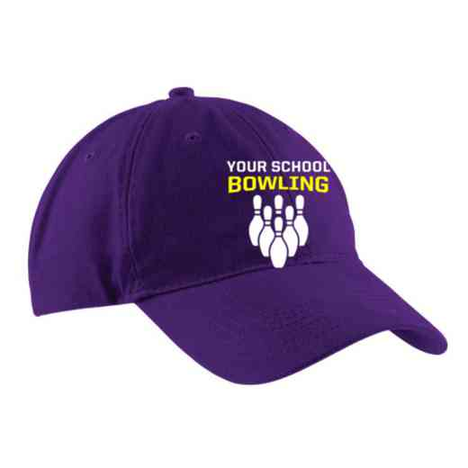 Bowling Embroidered Brushed Twill Cap