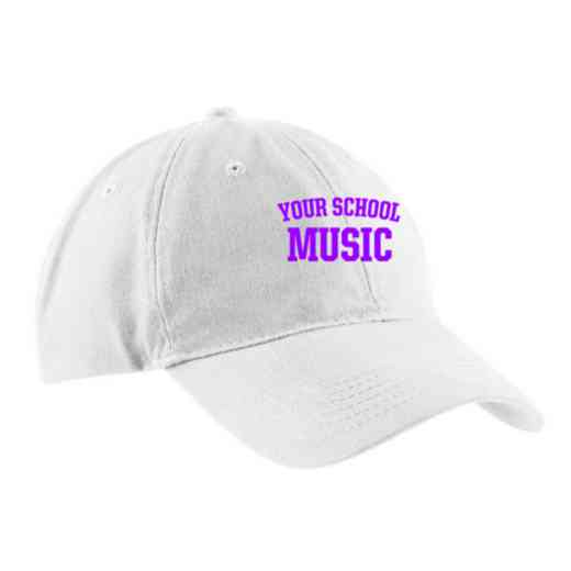 Music Embroidered Brushed Twill Cap