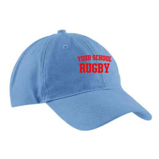 Rugby Embroidered Brushed Twill Cap