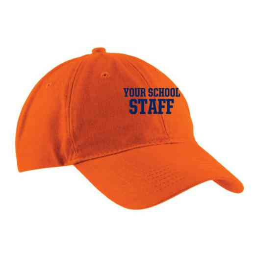 Staff Embroidered Brushed Twill Cap