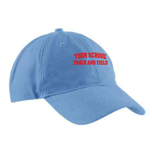 Track and Field Embroidered Brushed Twill Cap