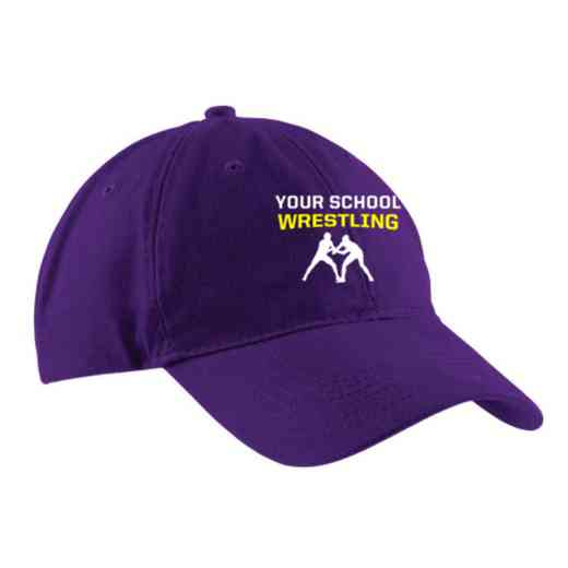 Wrestling Embroidered Brushed Twill Cap