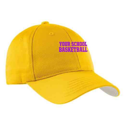 Basketball Embroidered Sport-Tek Nylon Cap