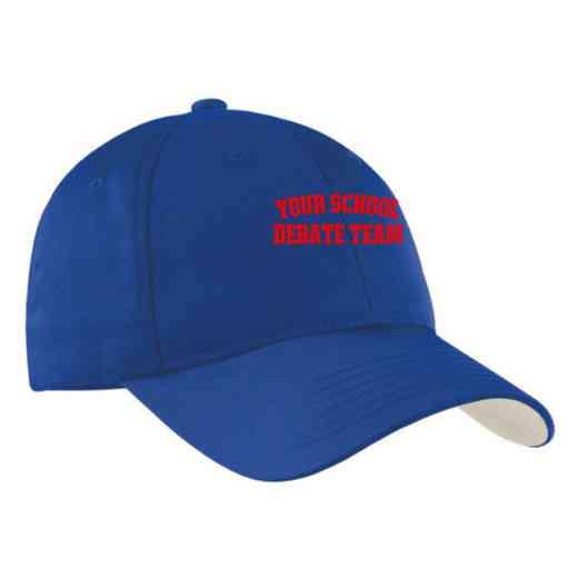 Debate Team Embroidered Sport-Tek Nylon Cap