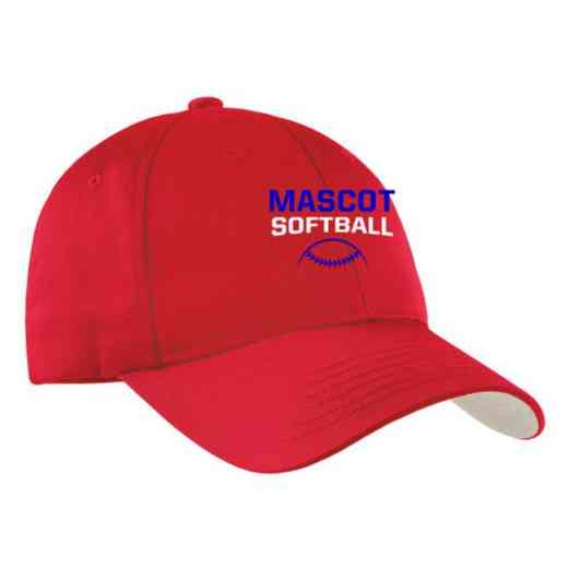 Softball Embroidered Sport-Tek Nylon Cap