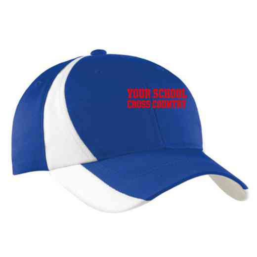 Cross Country Embroidered Sport-Tek Color-Block Cap