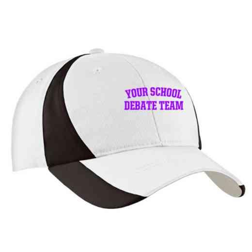 Debate Team Embroidered Sport-Tek Color-Block Cap