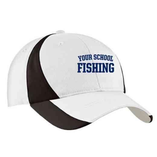 Fishing Embroidered Sport-Tek Color-Block Cap
