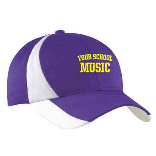 Music Embroidered Sport-Tek Color-Block Cap