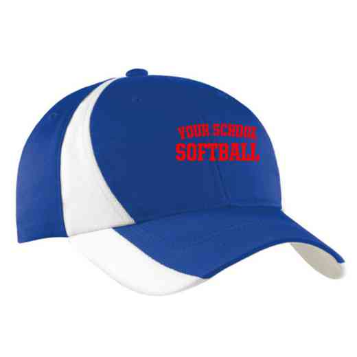 Softball Embroidered Sport-Tek Color-Block Cap