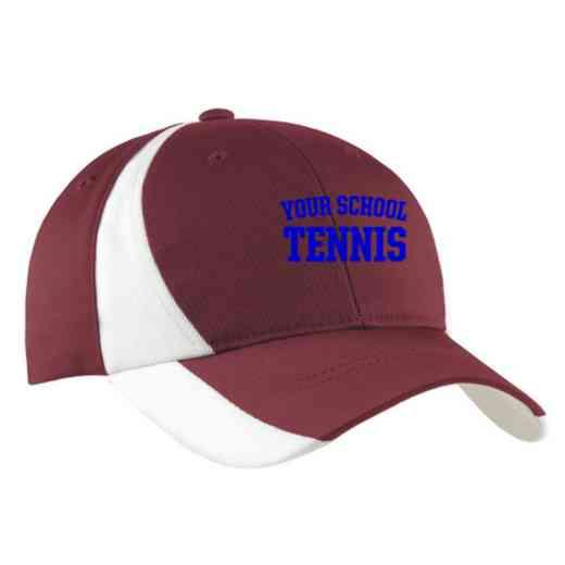 Tennis Embroidered Sport-Tek Color-Block Cap