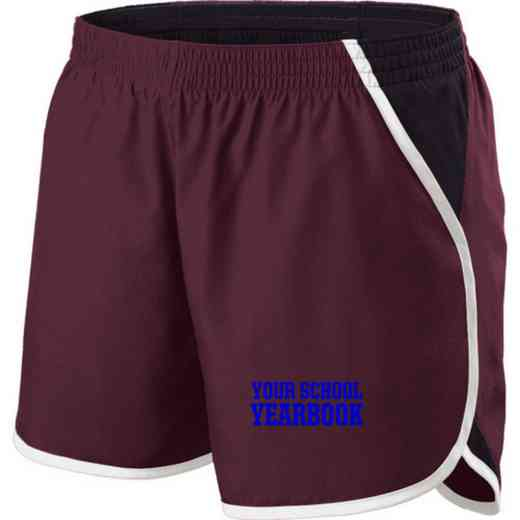 Yearbook Holloway Embroidered Ladies Energize Short