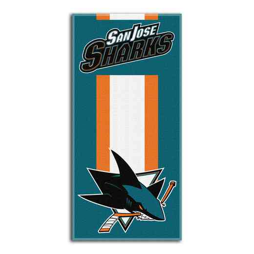 1NHL620000020RET: NHL 620 Sharks Zone Read Beach Towel