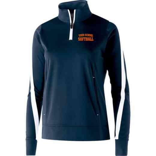 Softball Embroidered Ladies Holloway Determination Pullover