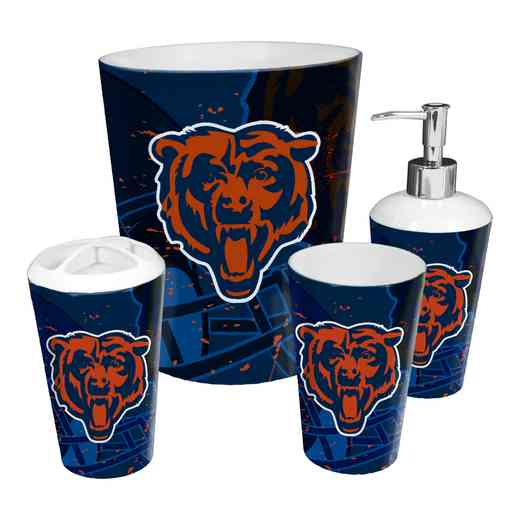 1NFL951000001RET: NFL 951 Bears 4pc Bath Set