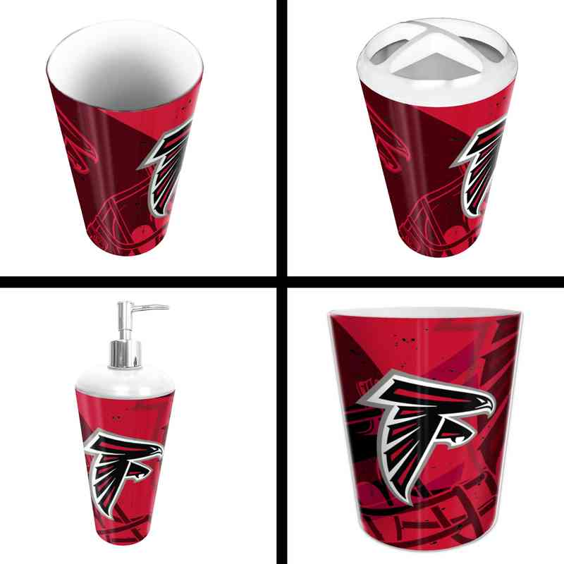 1NFL951000012RET: NFL 951 Falcons 4pc Bath Set