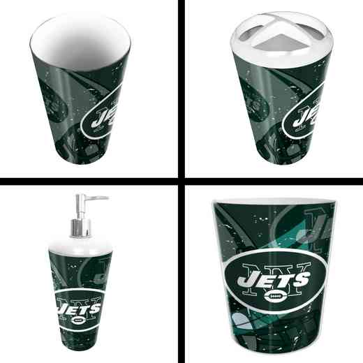 1NFL951000015RET: NFL 951 Jets 4pc Bath Set