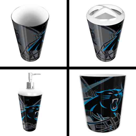 1NFL951000018RET: NFL 951 Panthers 4pc Bath Set